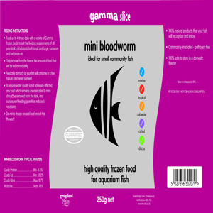 Mini Bloodworm Slice Flat Pack 250g